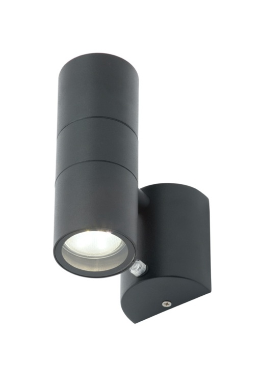 Zinc Leto 2 Light With Photocell - Black