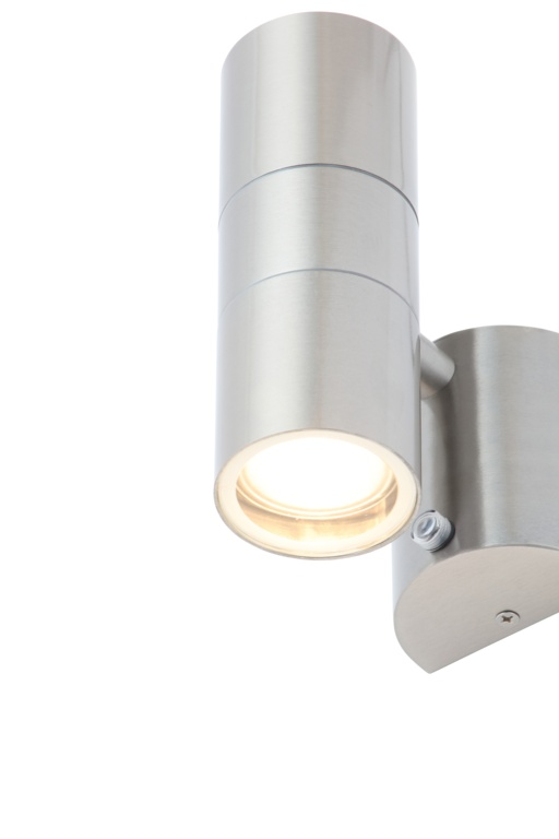 Zinc Leto 2 Light With Photocell - Stainless Steel