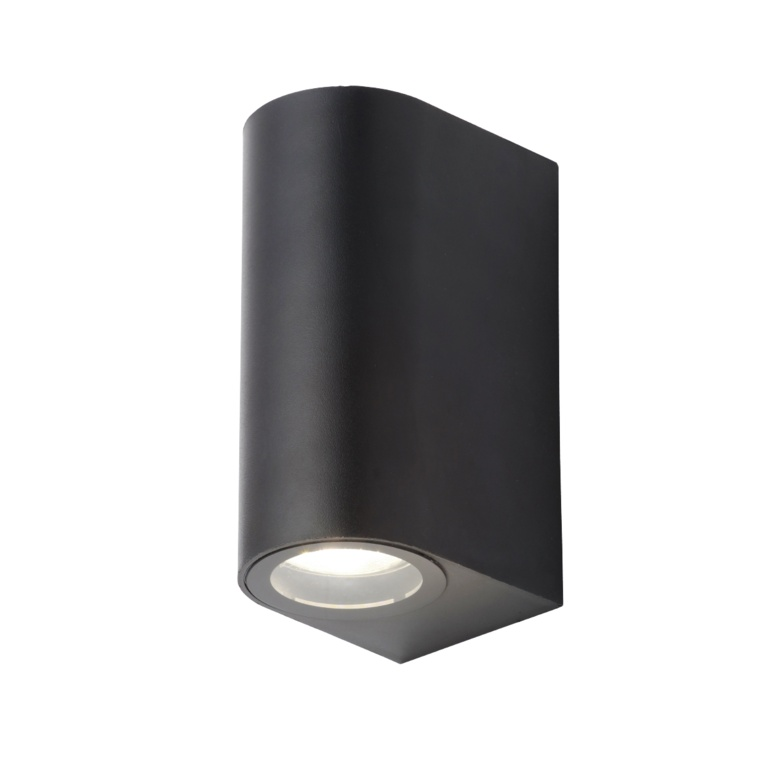 Coast Iona 2 Light IP44 Wall Light - 5w Black