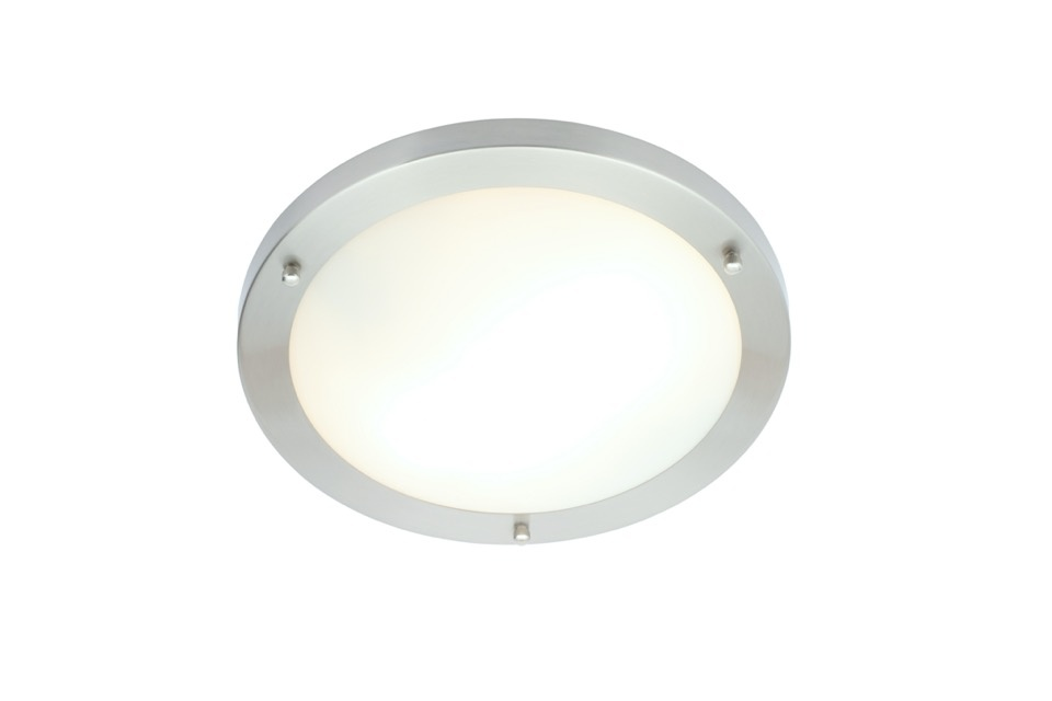 Spa Delphi 2 x E27 Flush Light - Chrome