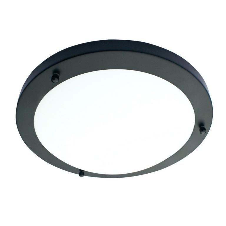 Spa Delphi E14 Flush Light - Satin Black