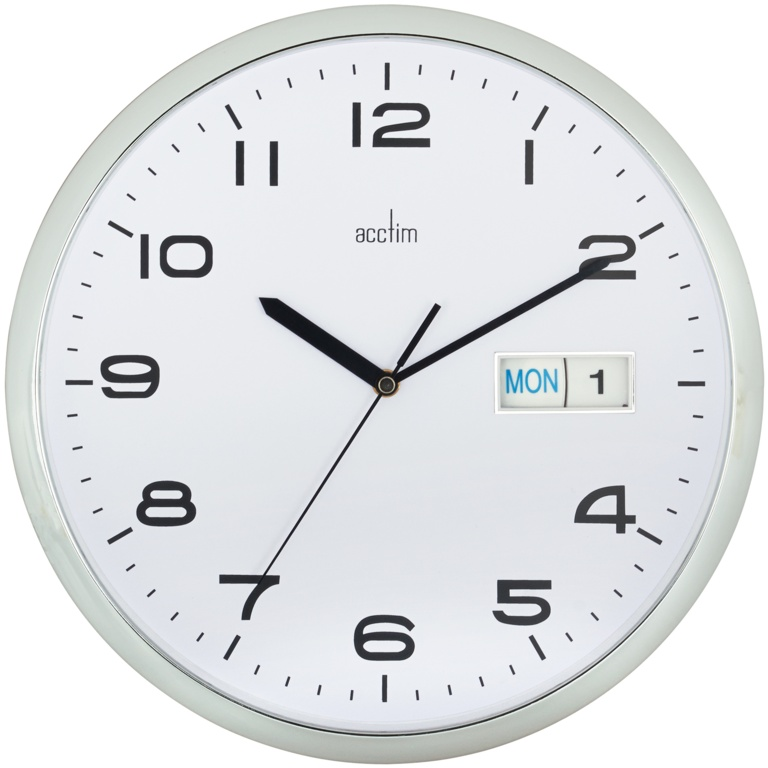 Acctim Supervisor Wall Clock - Chrome