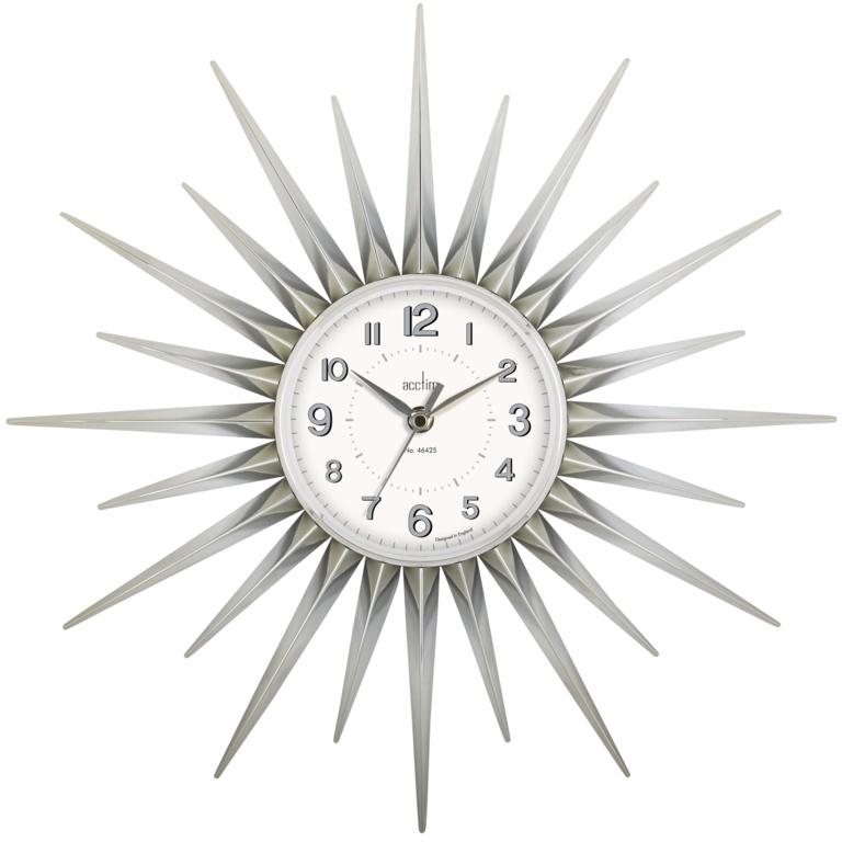Acctim Stella Wall Clock - Chrome