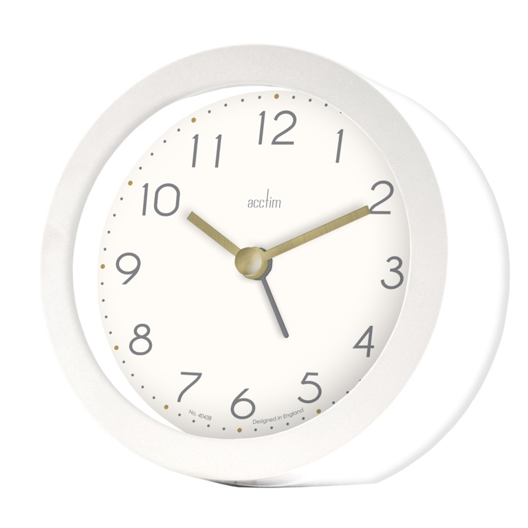 Acctim Mila Alarm Clock - White Cliffs