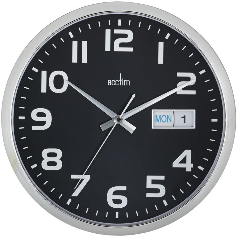 Acctim Supervisor Wall Clock - Black