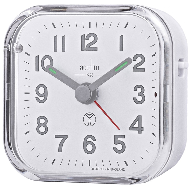 Acctim Fordham Alarm Clock - White
