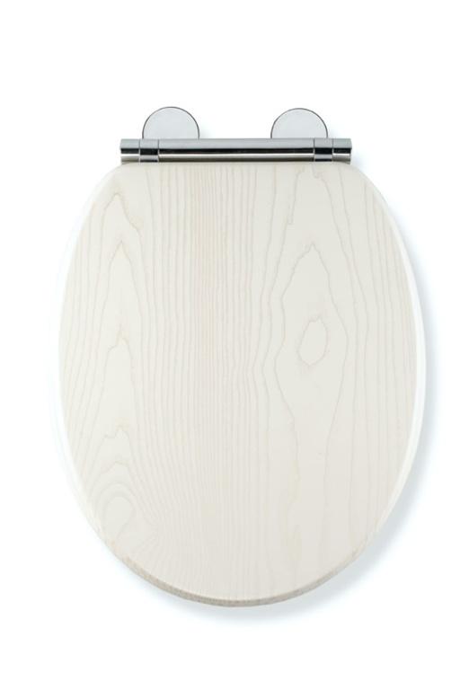 Croydex White Oak Flexi Fix Toilet Seat - Soft Close Quick Release