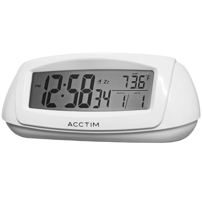 Acctim Sol Alarm Clock - White