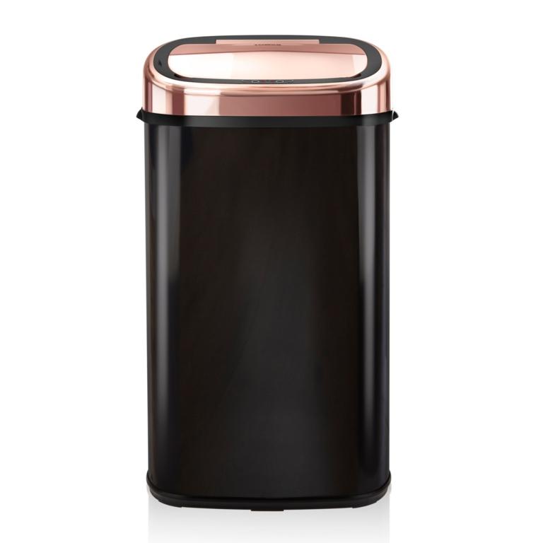 Tower Square Sensor Bin - 58L Rose Gold/Black