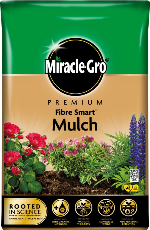 Miracle Gro Fibre Smart Mulch - 40L