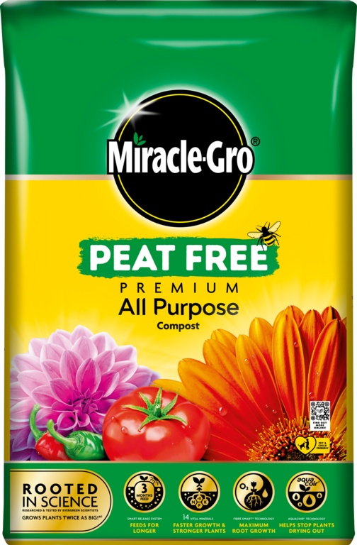 Miracle Gro Premium All Purpose Peat Free Compost - 20L