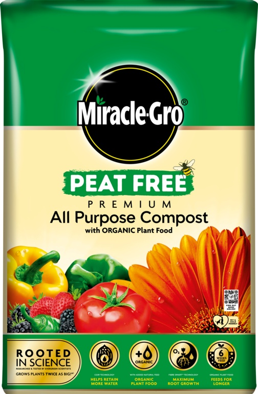 Miracle Gro All Purpose Organic Peat Free Compost - 40L