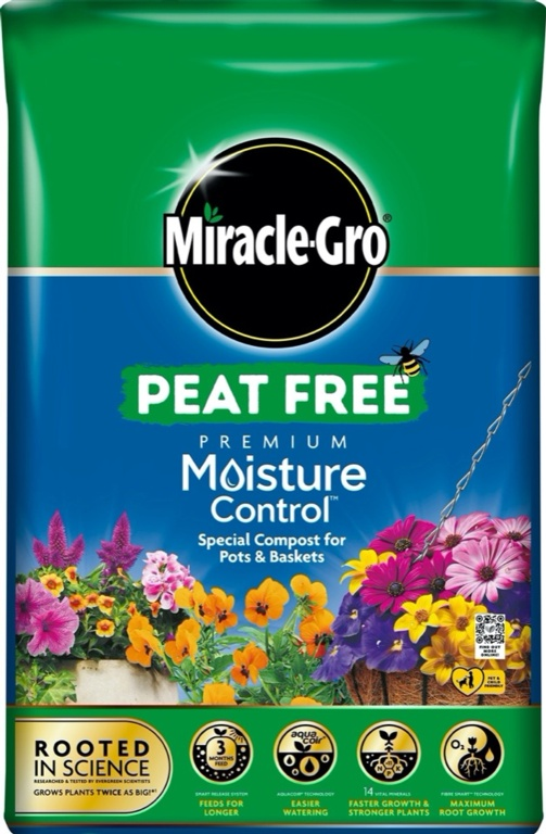 Miracle Gro Moisture Control Peat Free Compost - 40L