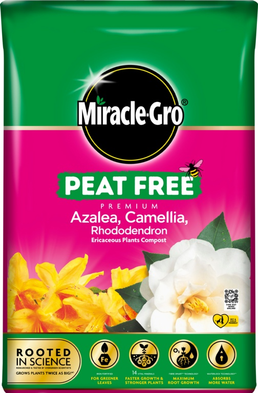 Miracle Gro Ericaceous Peat Free Compost - 40L
