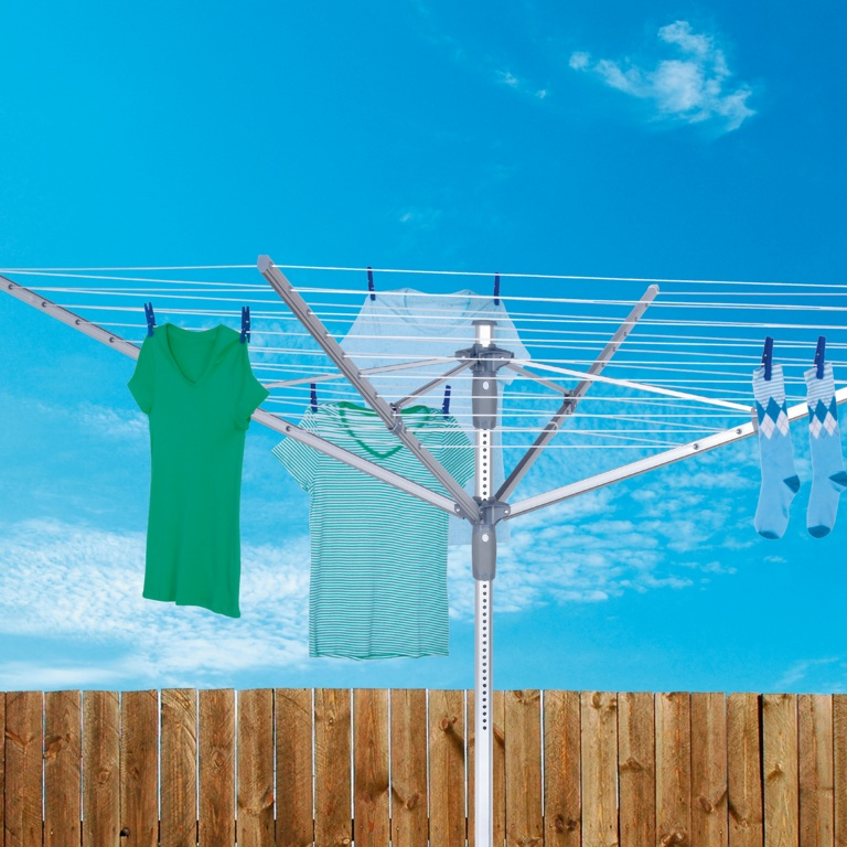 Groundsman 4 Arm Rotary Airer With Cover, Bag & Spike - 60m