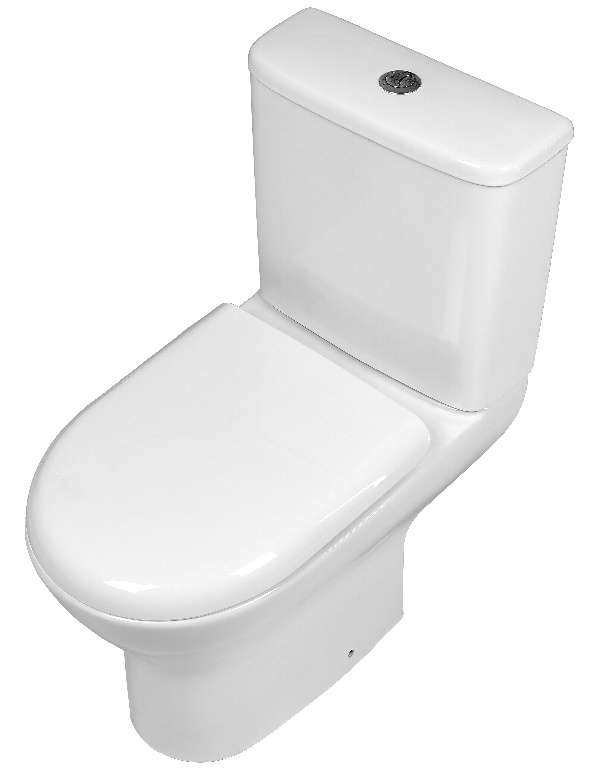 SP Pure Close Coupled Rimless Round Toilet