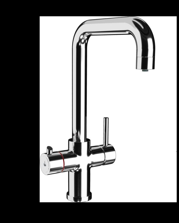 Ellsi 3 in 1 Instant Hot Water Kitchen Tap - Chrome