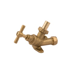 """Securplumb Bibtap With Check Valve and Wall Plate 1/2"""""""
