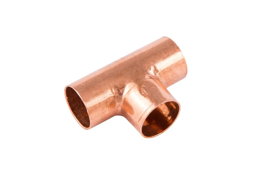 Securplumb WRAS Equal Tee End Feed - 10mm Pack 10