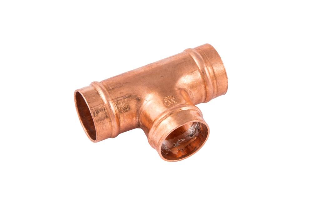 Securplumb SR24 Equal Tee Solder Ring - 22mm Pack 5