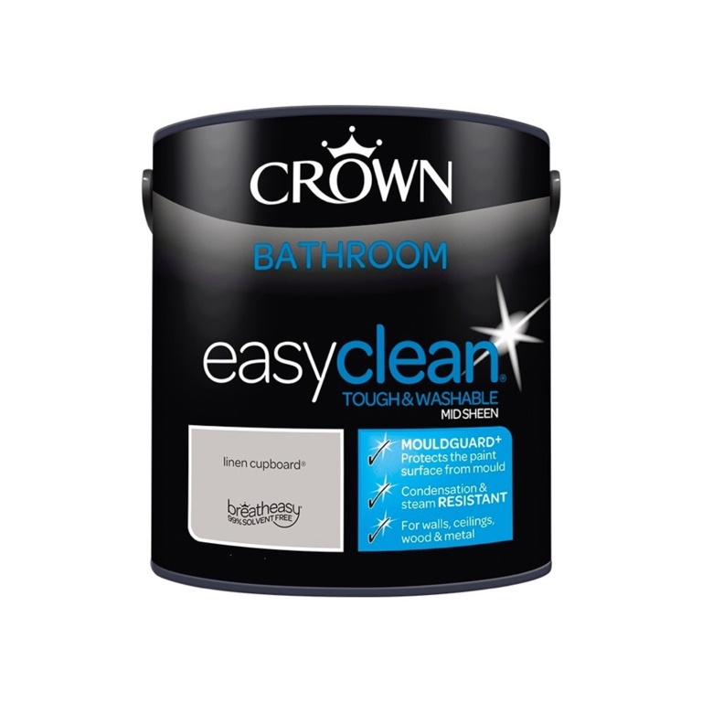 Crown Easyclean Bathroom Mid Sheen 2.5L - Linen Cupboard