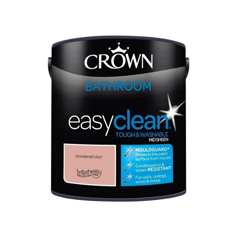 Crown Easyclean Bathroom Mid Sheen 2.5L - Powdered Clay