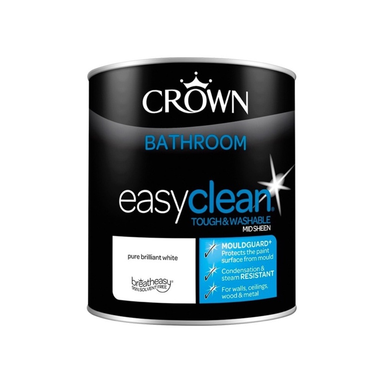 Crown Easyclean Bathroom Mid Sheen 1L - PBW
