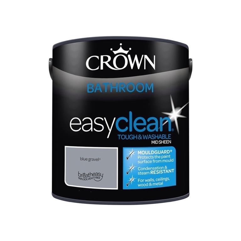 Crown Easyclean Bathroom Mid Sheen 2.5L - Blue Gravel