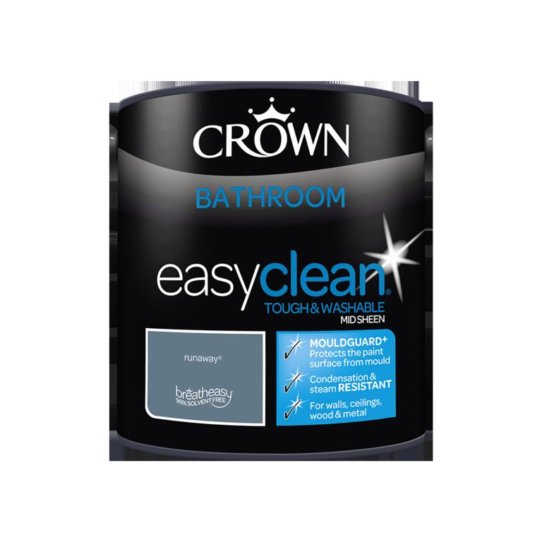 Crown Easyclean Bathroom Mid Sheen 2.5L - Runaway