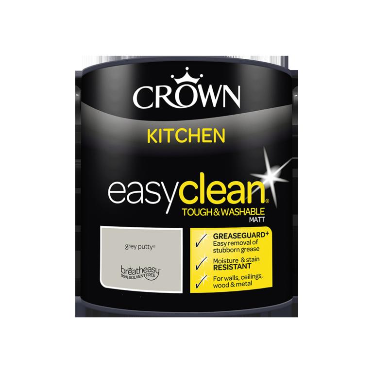 Crown Easyclean Kitchen Matt 2.5L - Grey Putty