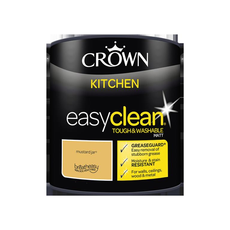 Crown Easyclean Kitchen Matt 2.5L - Mustard Jar