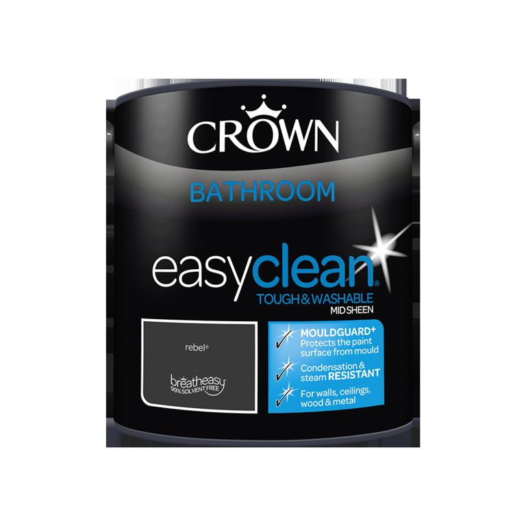 Crown Easyclean Bathroom Mid Sheen 2.5L - Rebel