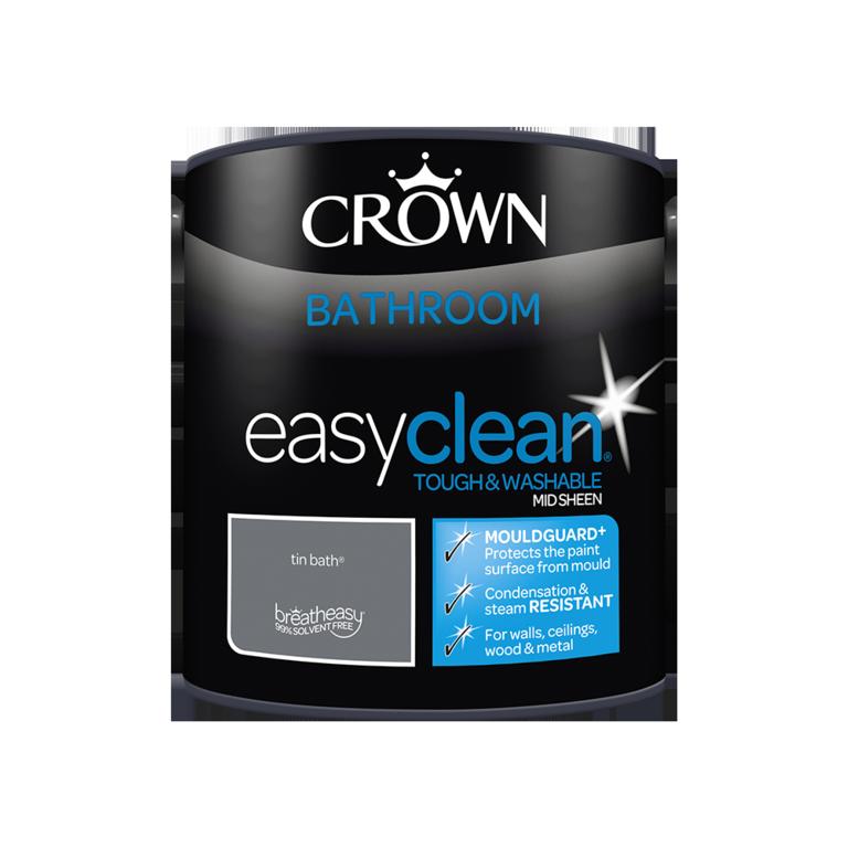 Crown Easyclean Bathroom Mid Sheen 2.5L - Tin Bath