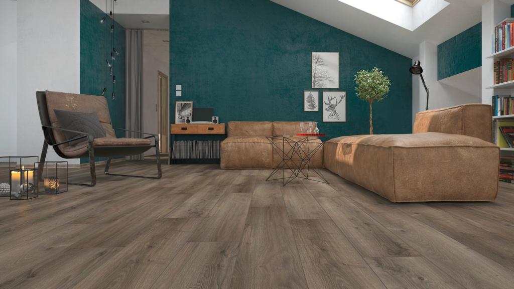 Classen Laminate Floor 12mm x 1.496m2 - Dark Grey Oak