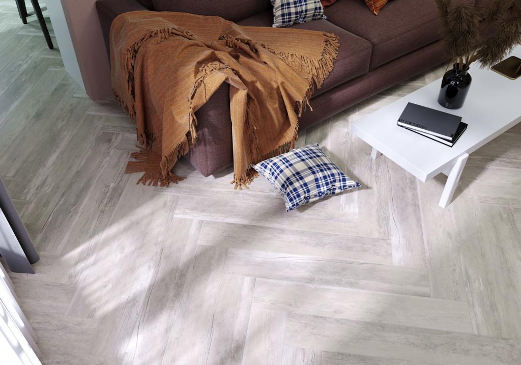 Golden Tile Tino Light Grey Wood Porcelain Tile - 1.08m2