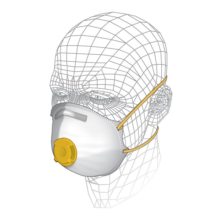 Vitrex Tool & MDF Respirator Filter FFP2
