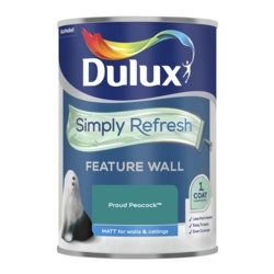 Dulux Simply Refresh Feature Wall 1.25L Proud Peacock - supplied by Shields DIY, Tavistock
