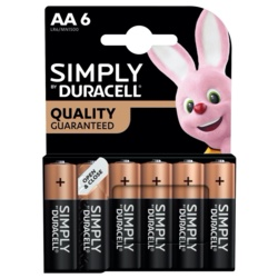 Duracell Simply Batteries AA Pack 6