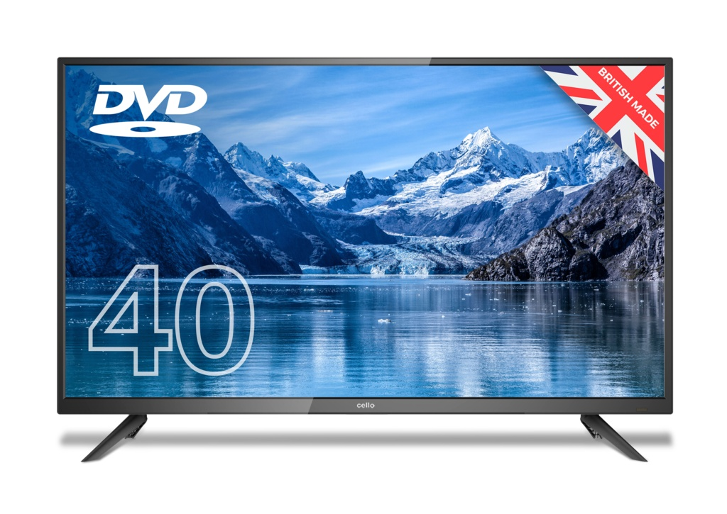"""Cello HD LED Digital TV With Build In DVD Player - 40"""""""