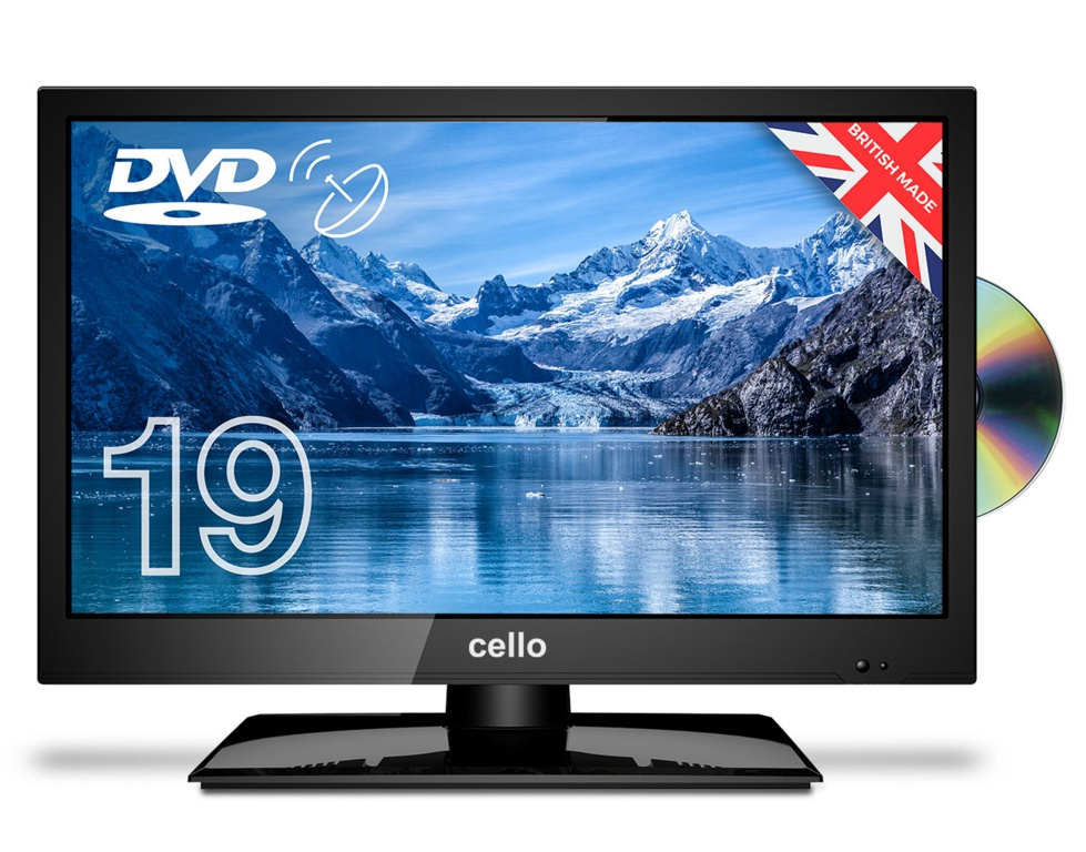 """Cello HD LED Digital TV With Built In DVD Player - 19"""""""