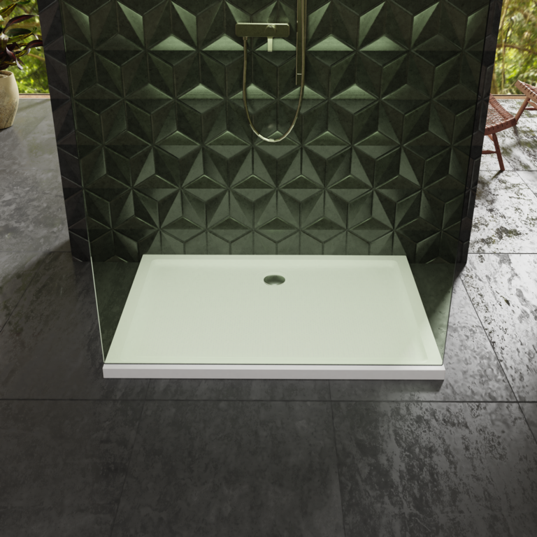 Centrum Low Profile Stone Resin Shower Tray - 40 x 800 x 1100mm