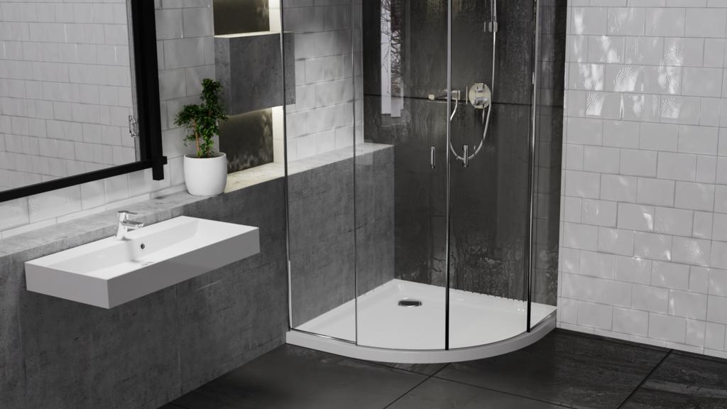 Centrum Low Profile Stone Resin Shower Tray - 40 x 900mm Quad
