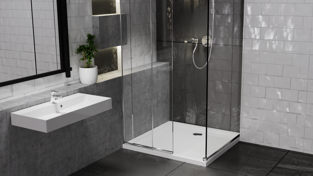 Centrum Low Profile Stone Resin Shower Tray - 40 x 900 x 900mm