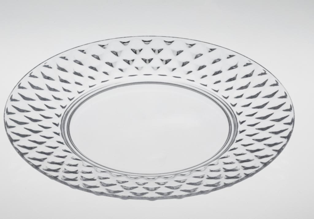 Casa & Casa Capri Clear Plate - 25cm