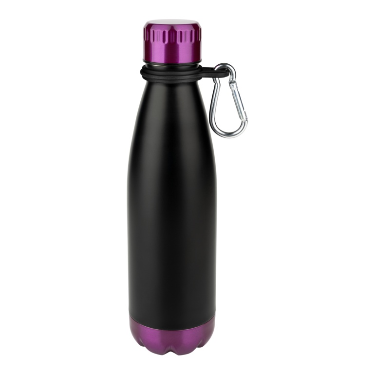 Pioneer Vacuum Bottle 0.5L - Purple & Black