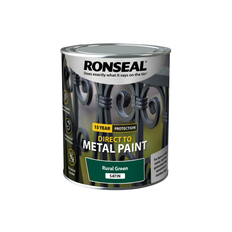 Ronseal Direct To Metal Paint 750ml - Green Satin