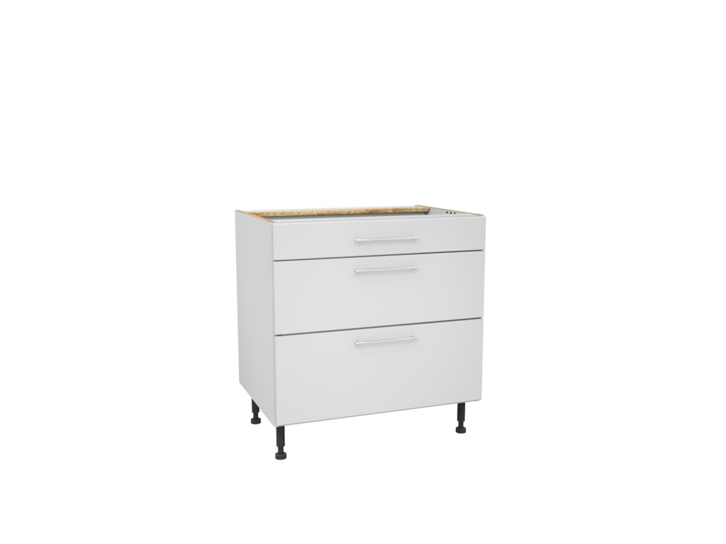 Gower Rapide Paris White 3 Drawer Pack - 800mm