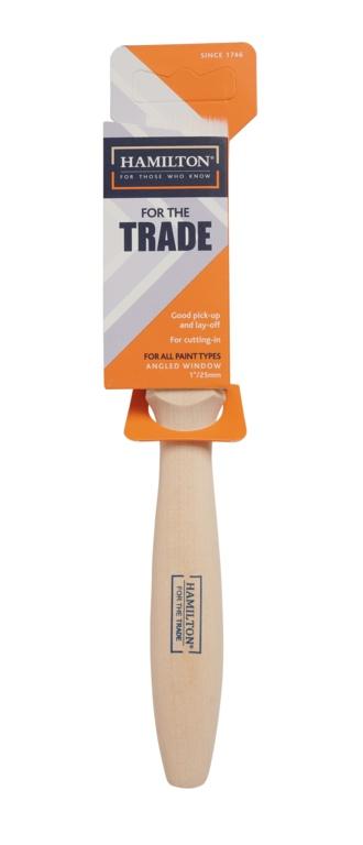 "Hamilton For The Trade Angled Window Brush - 1"""