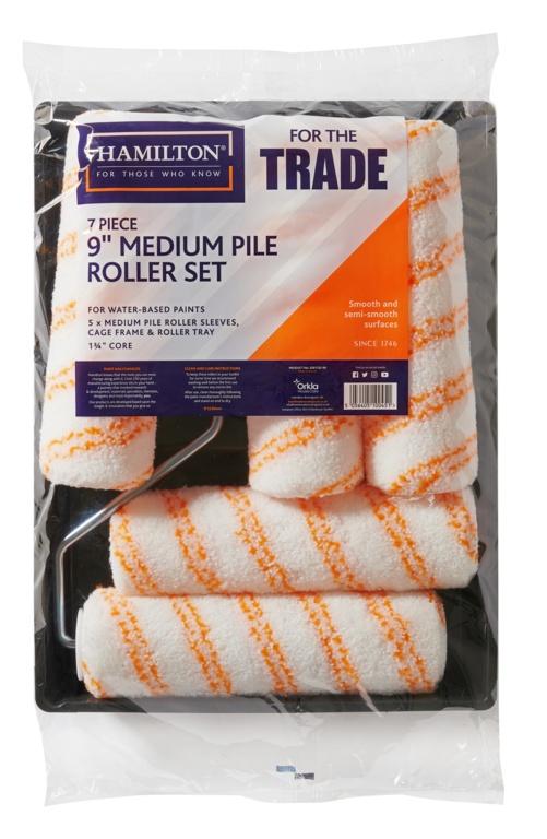 "Hamilton For The Trade Medium Pile Roller Set  9"" - 7 Piece"