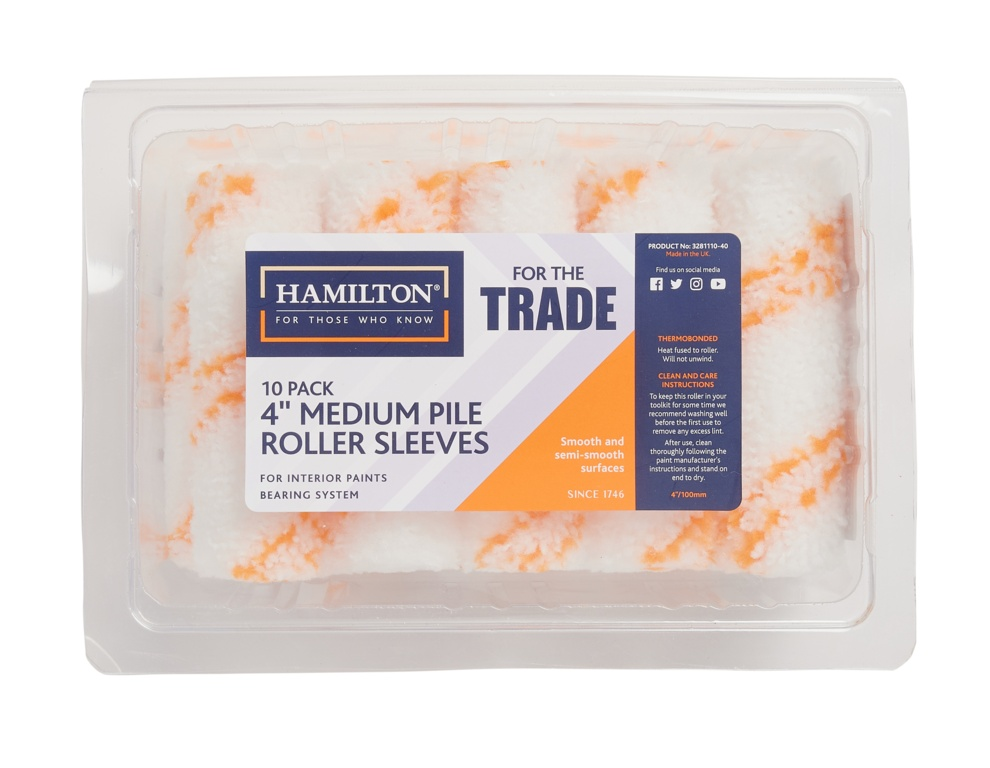 """Hamilton For The Trade Medium Pile Sleeves Pack 10 - 4"""""""